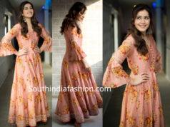 raashi khanna in floral maxi dress for adanga maru promotions