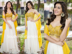 raashi khanna in yellow and white lehenga