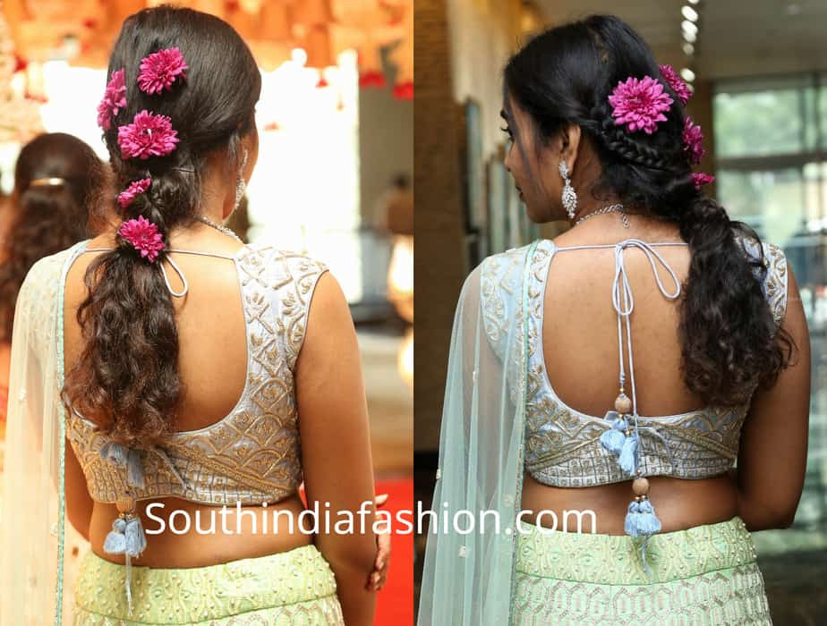rajasekhar daughter shivatmika flower hairstyle