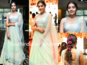 rajasekhar daughter shivatmika in mint green lehenga at her cousin wedding