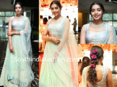 rajasekhar daughter shivatmika in mint green lehenga at her cousin wedding
