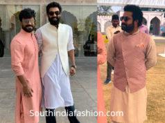 ram charan and ntr at rajamouli son wedding