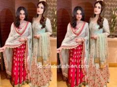 raveena tandon with daughter rasha thadani at isha ambani pre wedding