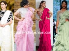 ruffle sarees online