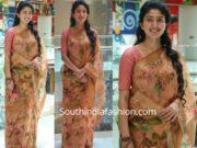 sai pallavi in floral saree at maari 2 press meet
