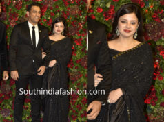 dhoni and his wife sakshi dhoni at deepika ranveer wedding reception