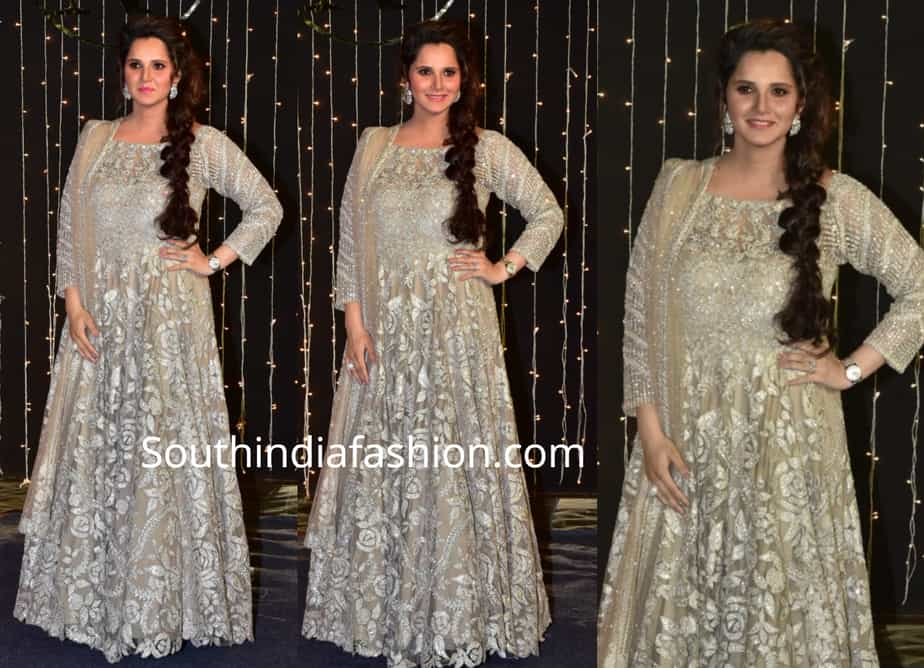 sania mirza at priyanka chopra reception