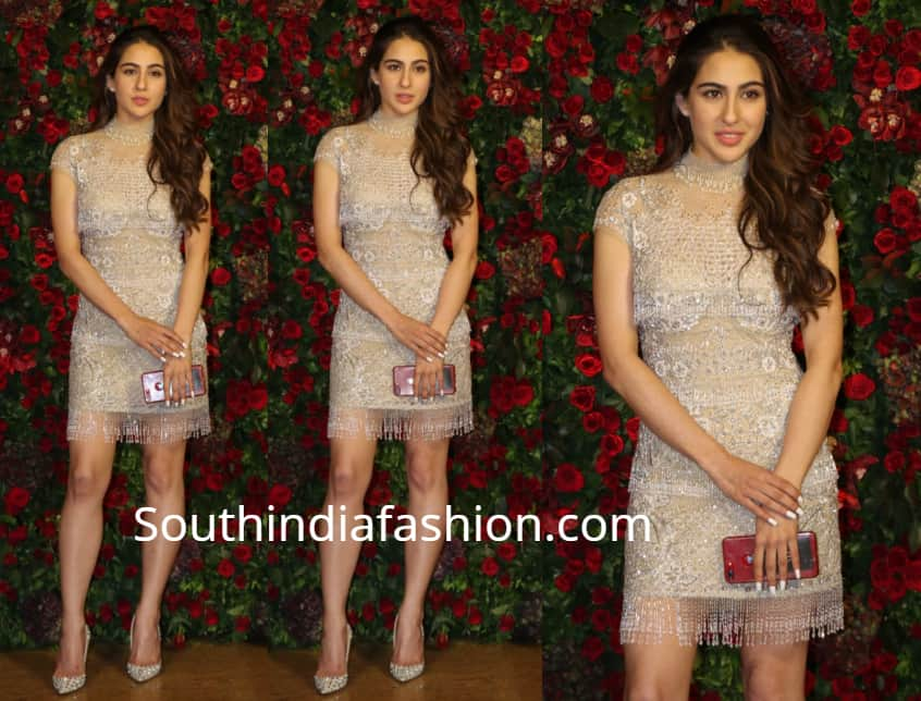 sara ali khan dress at deepika ranveer wedding reception