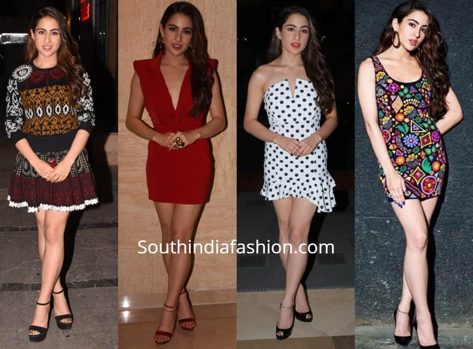 sara ali khan in mini dresses for simmba promotions
