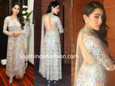 sara ali khan kedarnath promotions anarkali suit