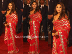 gauri khan in red saree at isha ambani wedding