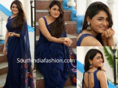 shalini pandey in navy blue saree