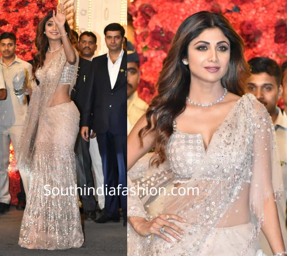 shilpa shetty lehenga at isha ambani wedding
