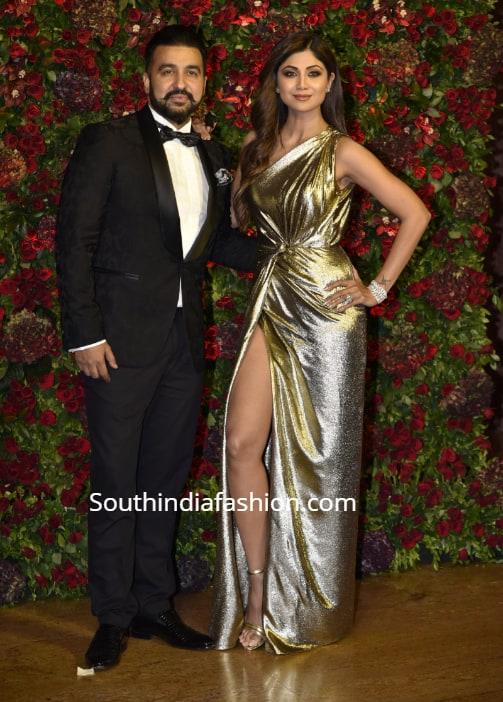 shilpa shetty and raj kundra at deepika ranveer wedding reception