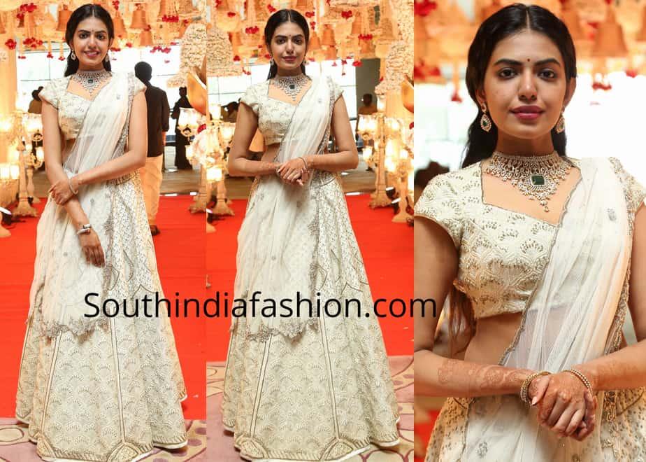 shivani rajasekhar lehenga at her cousin wedding