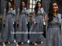 sonam kapoor grey maxi dress