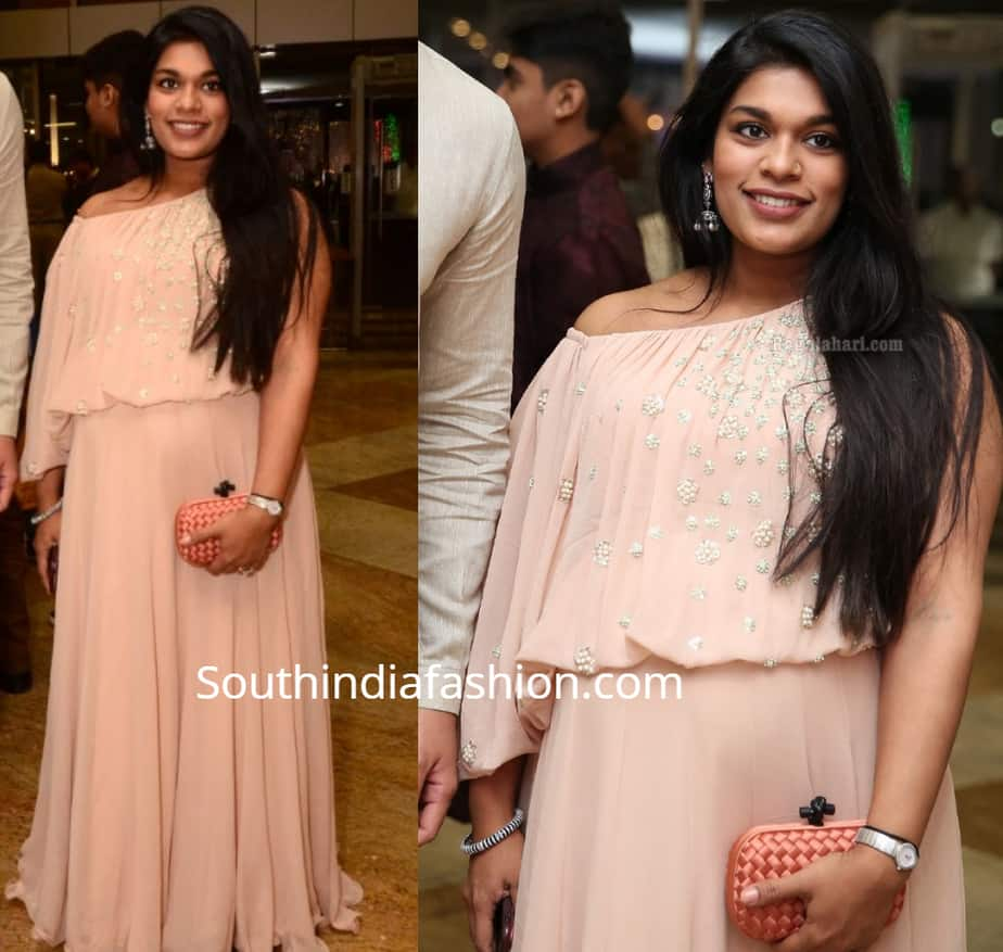 Sreeja konidela at saina nehwal wedding reception