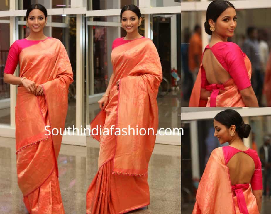 srinidhi shetty saree at kgf pre release event