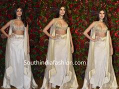 tara sutaria in anamika khanna dress at deepika ranveer wedding reception
