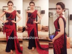 trisha krishnan in fusion saree at behindwoods gold medal awards