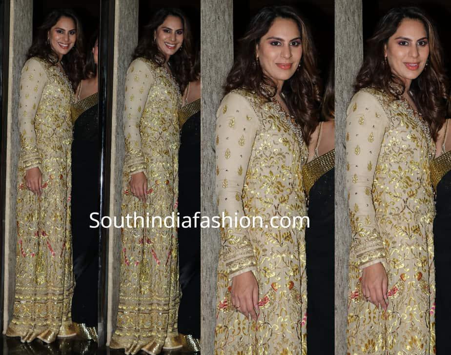 upasana in abu jani sandeep khosla gown at priyanka chopra wedding reception