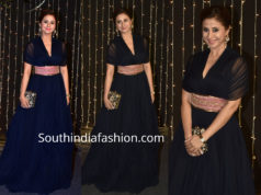 urmila matondkar in blue gown at priyanka chopra wedding reception