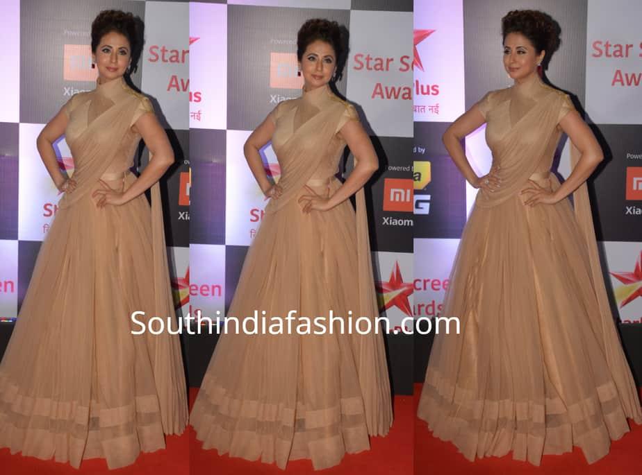 urmila matondkar in shantanu nikhil gown at star screen awards