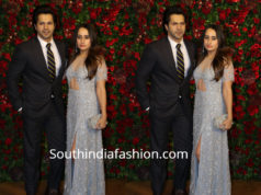 varun dawan with girlfriend natasha dalal at deepika ranveer wedding reception