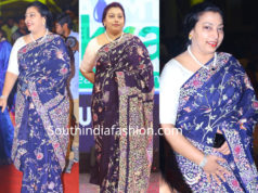 balakrishna wife vasundhara in blue saree at ntr biopic audio launch