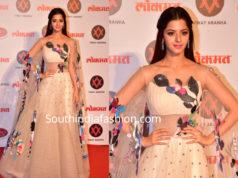 vedhika dress in lokmat awards