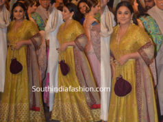 vidya balan in mustard yellow anarkali at isha ambani wedding