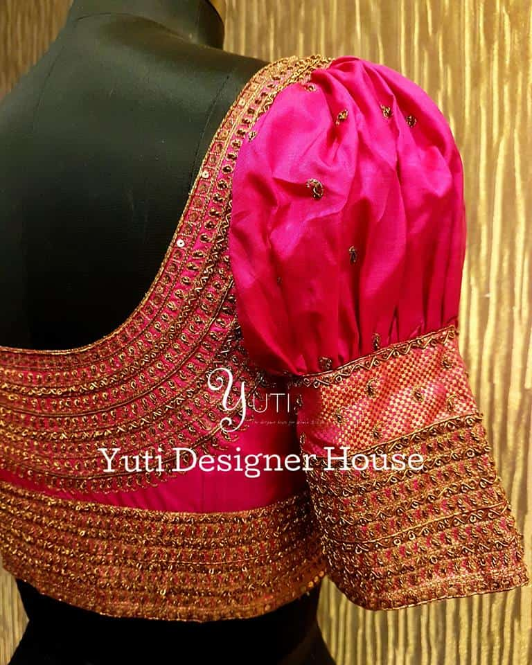 MAGGAM WORK BLOUSE DESIGNS FOR SILK SAREES