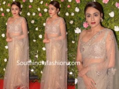 AMRUTA KHANVILKAR IN NET SAREE