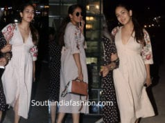 mira rajput in white dress