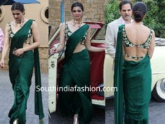 ihana dhillon green saree