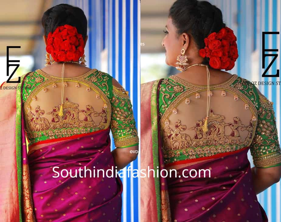 roja pallaki design maggam work blouse