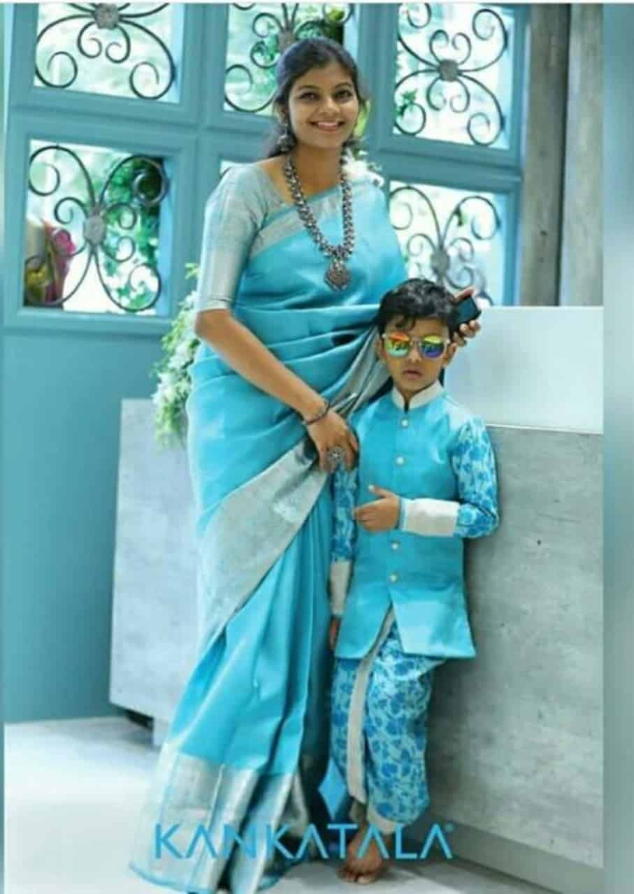 mother son matching indian dresses