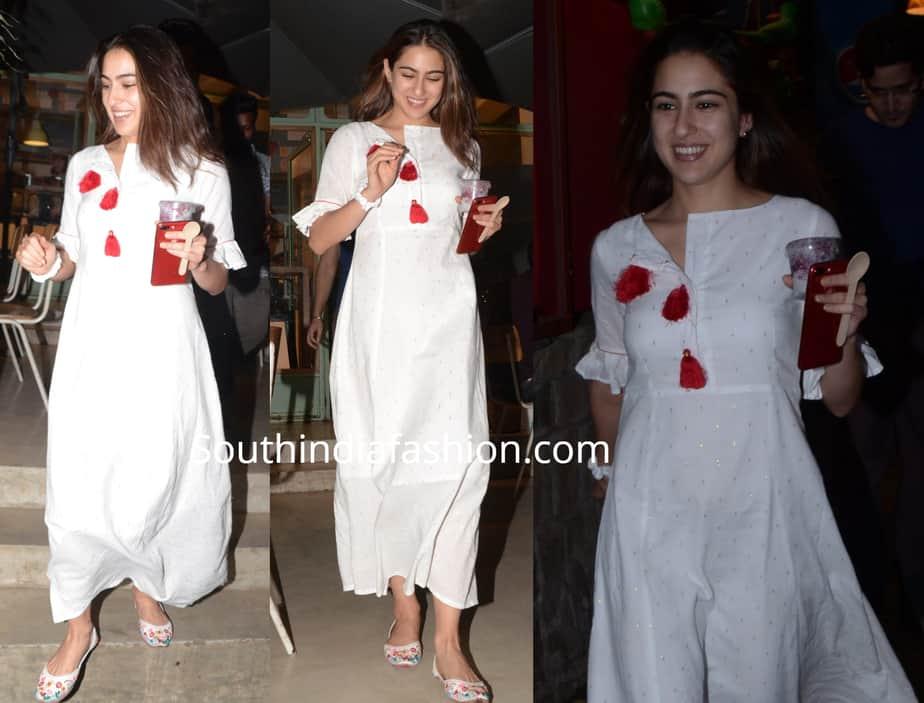 sara ali khan white maxi dress