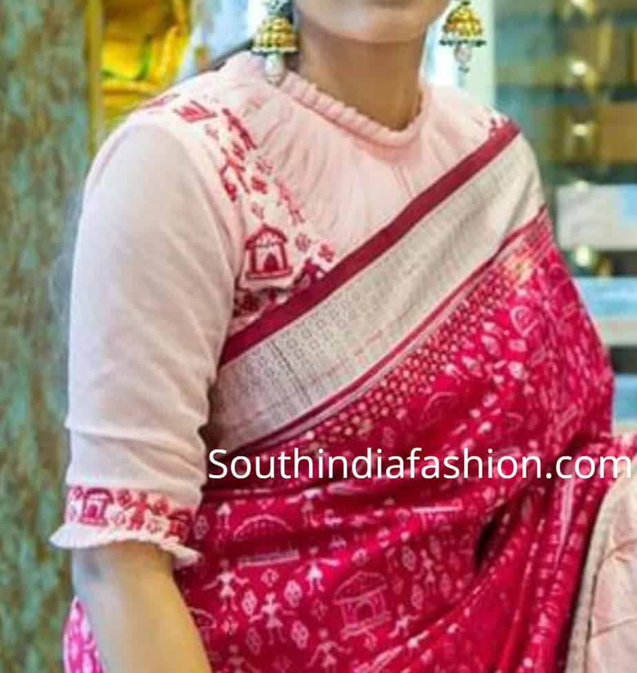 frill collar saree blouse