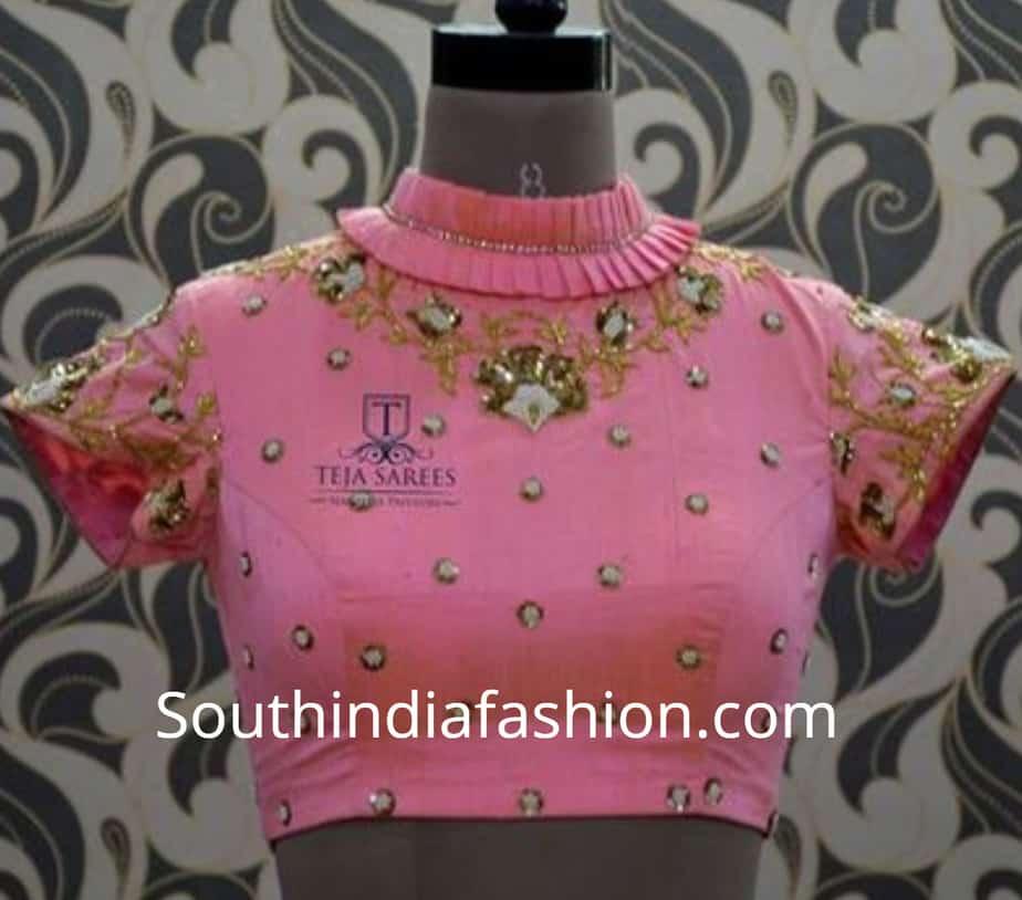 frill ruffle collar saree blouse