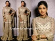SHILPA SHETTY IN TARUN TAHILAINI SHARARA SUIT
