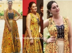 nargis fakhri in label anushree amavas promotions