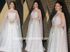 alia bhatt in a white lehenga at her cousin's wedding reception