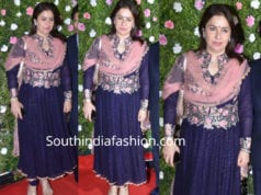 anjali tendulkar in blue salwar kameez at amit thackeray wedding reception