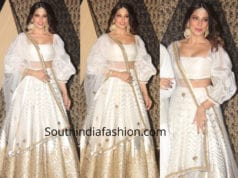 bipasha basu in white lehenga at sakshi bhatt wedding reception