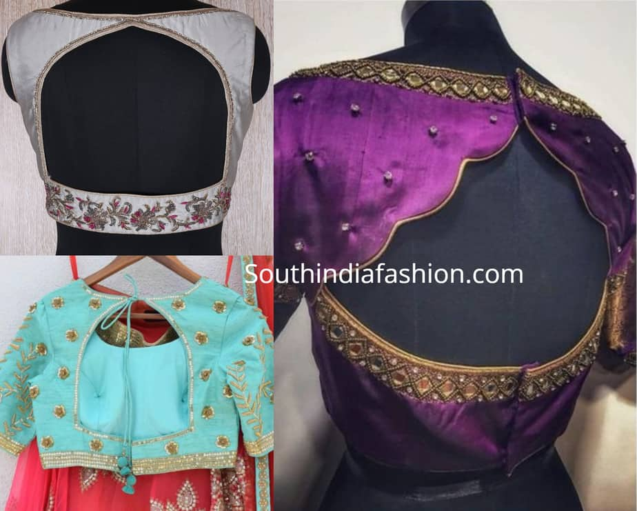party wear saree blouse designs 2019