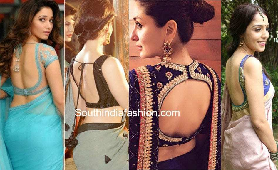 saree blouse back neck designs 2019
