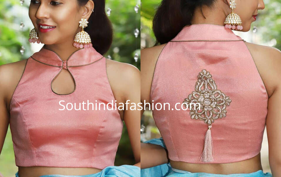 latest party wear saree blouse designs 2019