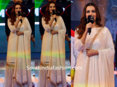 dia mirza in a white sharara suit