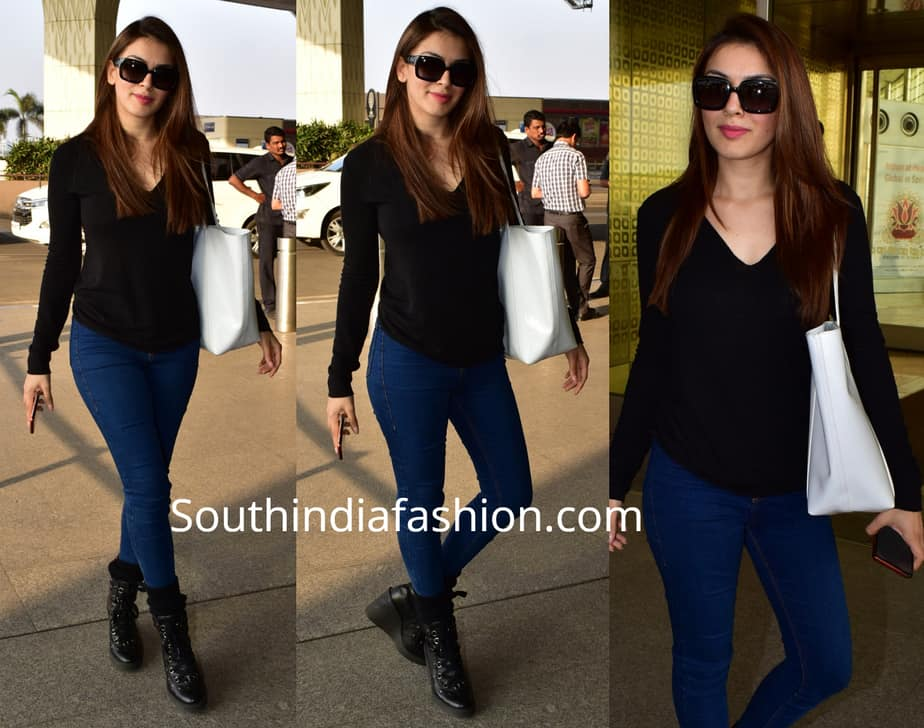 hansika in jeans